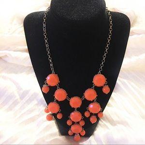 BaubleBar orange statement necklace 🧡